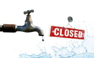 ברז מים סגור
